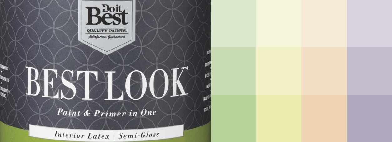 Do it Best Quality Best Look Paint can with paint swatches