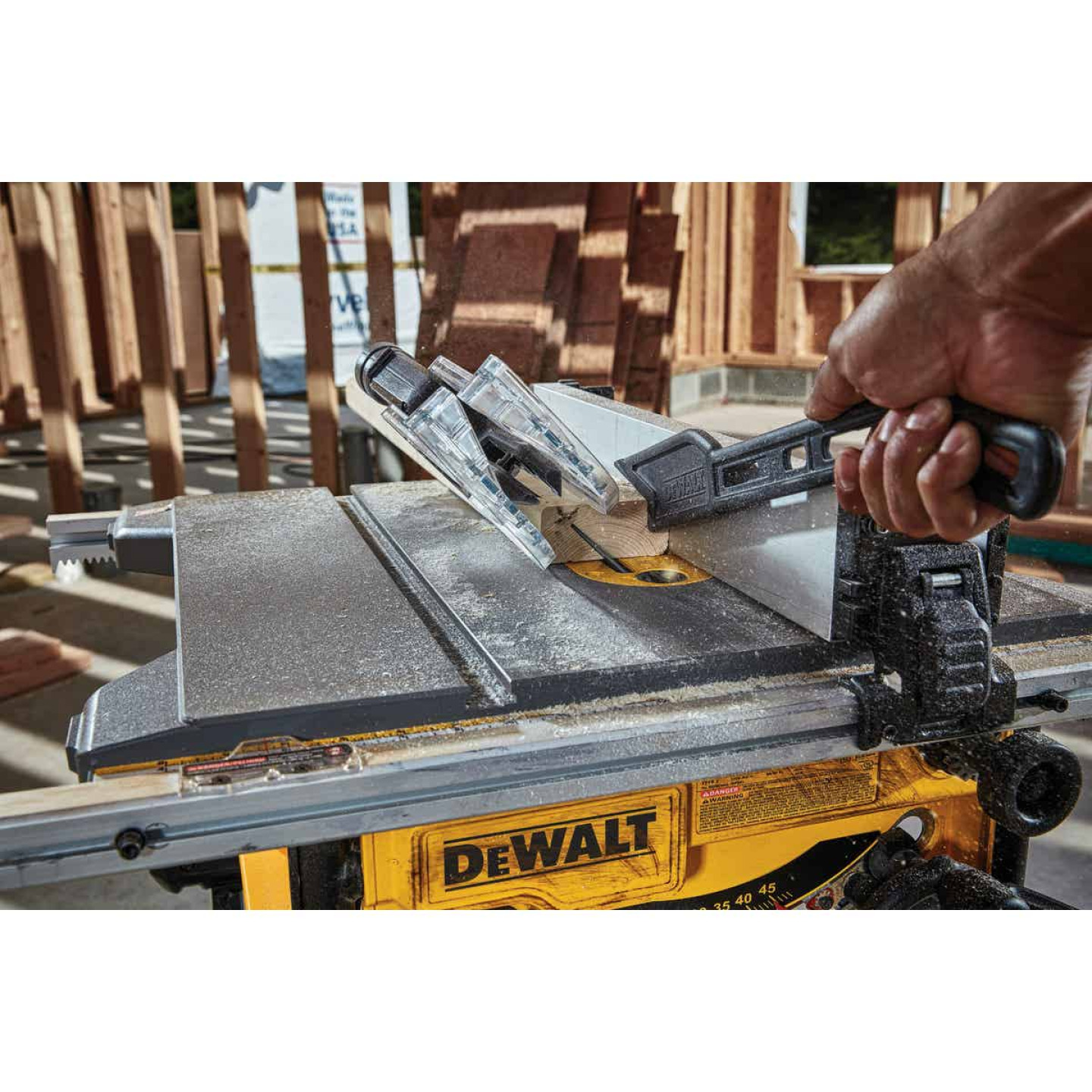 DeWalt 15A 8-1/4 In. Compact Job Site Table Saw w/Site-Pro Modular Guarding System Image 2